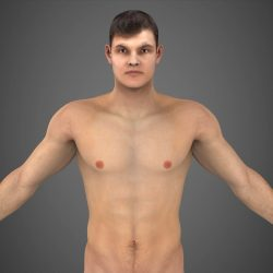 Realistic Young Muscular Man ( 272.41KB jpg by cghuman )