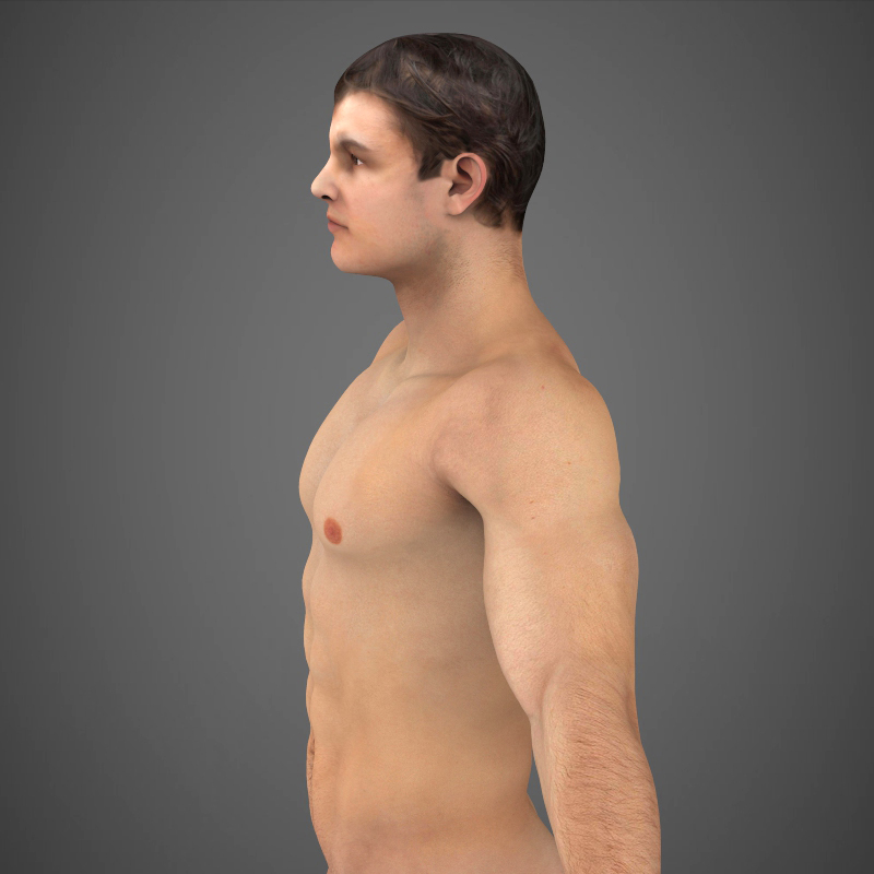 Realistic Young Muscular Man ( 230.44KB jpg by cghuman )