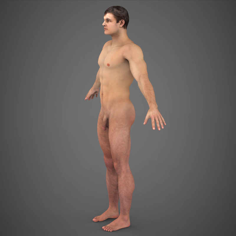 Realistic Young Muscular Man ( 182.02KB jpg by cghuman )