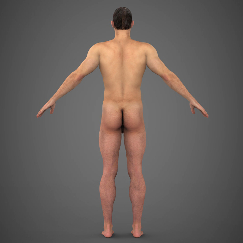 Realistic Young Muscular Man ( 192.72KB jpg by cghuman )