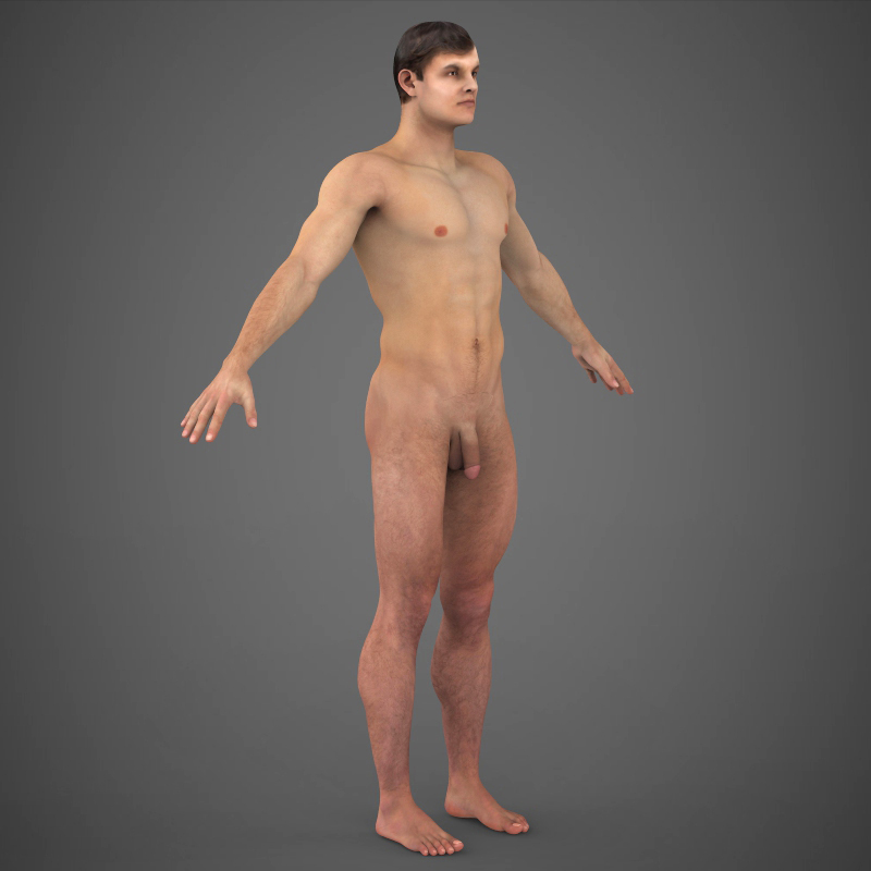 Realistic Young Muscular Man ( 190.76KB jpg by cghuman )