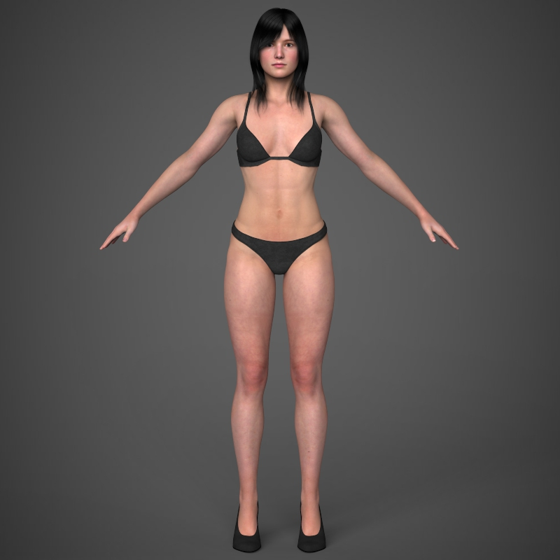 Realistic Young Pretty Girl 3D Model – Buy Realistic Young ...