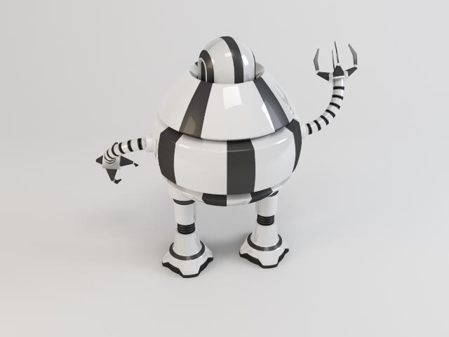 robot d3b9 3d model 3ds max fbx obj 119715