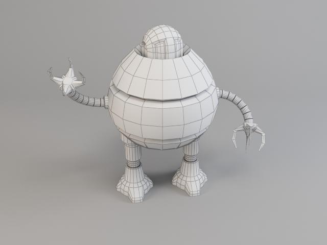 robot d3b9 3d model 3ds max fbx obj 119716
