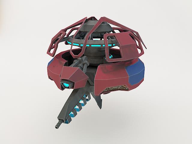 robot fl-130 3d model 3ds max fbx obj 157260