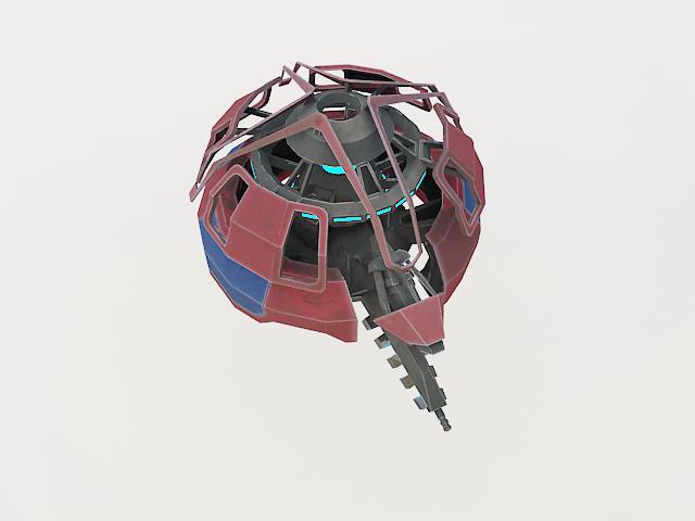 robot fl-130 3d model 3ds max fbx obj 157263