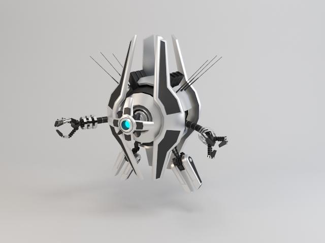 robot trs250 3d model 3ds max fbx obj 119489
