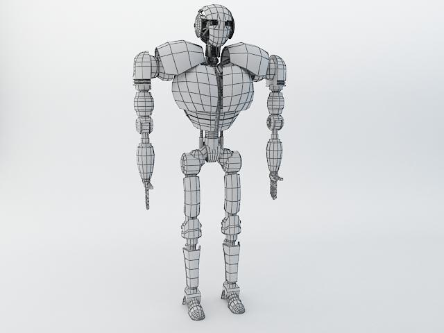 robot z300 (improved version) 3d model 3ds max fbx obj 139444