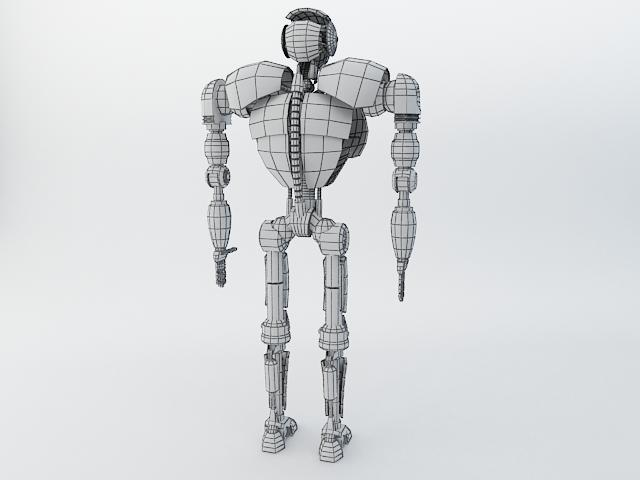 robot z300 (improved version) 3d model 3ds max fbx obj 139445