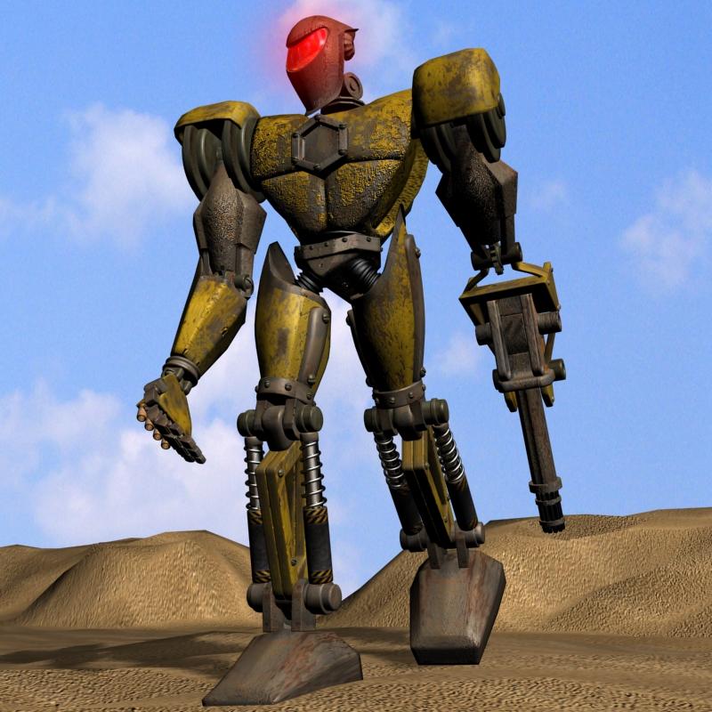 sand marauder robot character rigged 3d model 3ds max fbx obj 135083