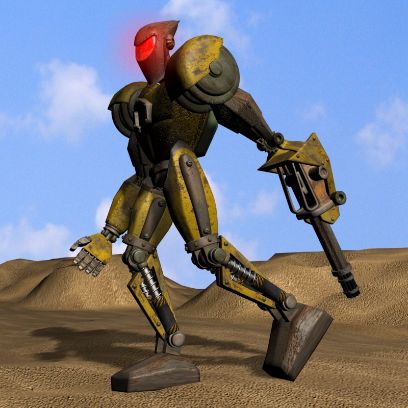 sand marauder robot character rigged 3d model 3ds max fbx obj 135084