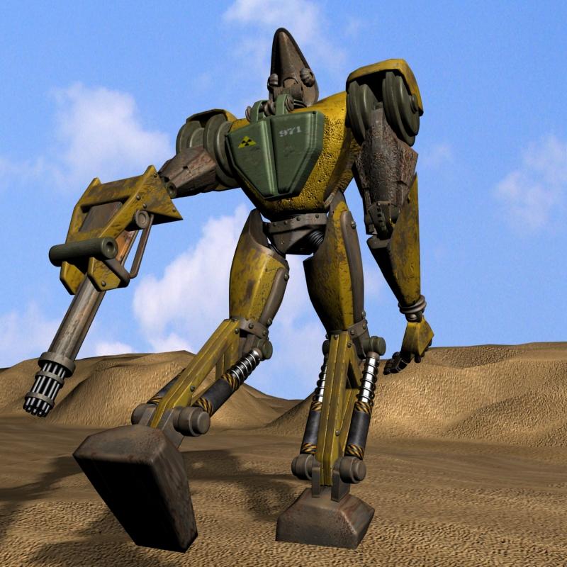 sand marauder robot character rigged 3d model 3ds max fbx obj 135085