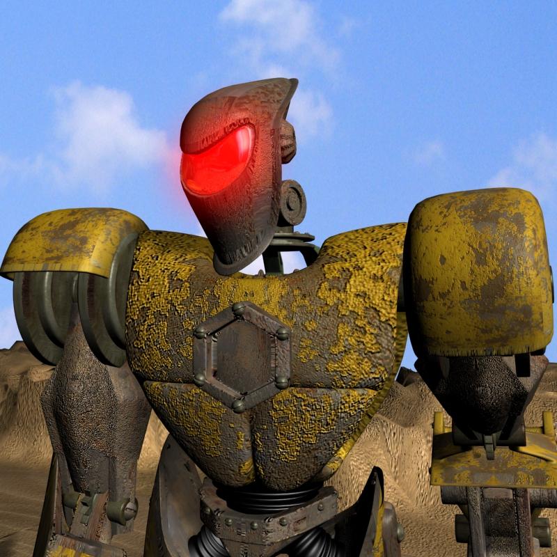 sand marauder robot character rigged 3d model 3ds max fbx obj 135086