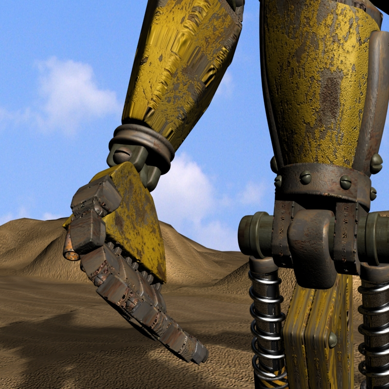 sand marauder robot character rigged 3d model 3ds max fbx obj 135087