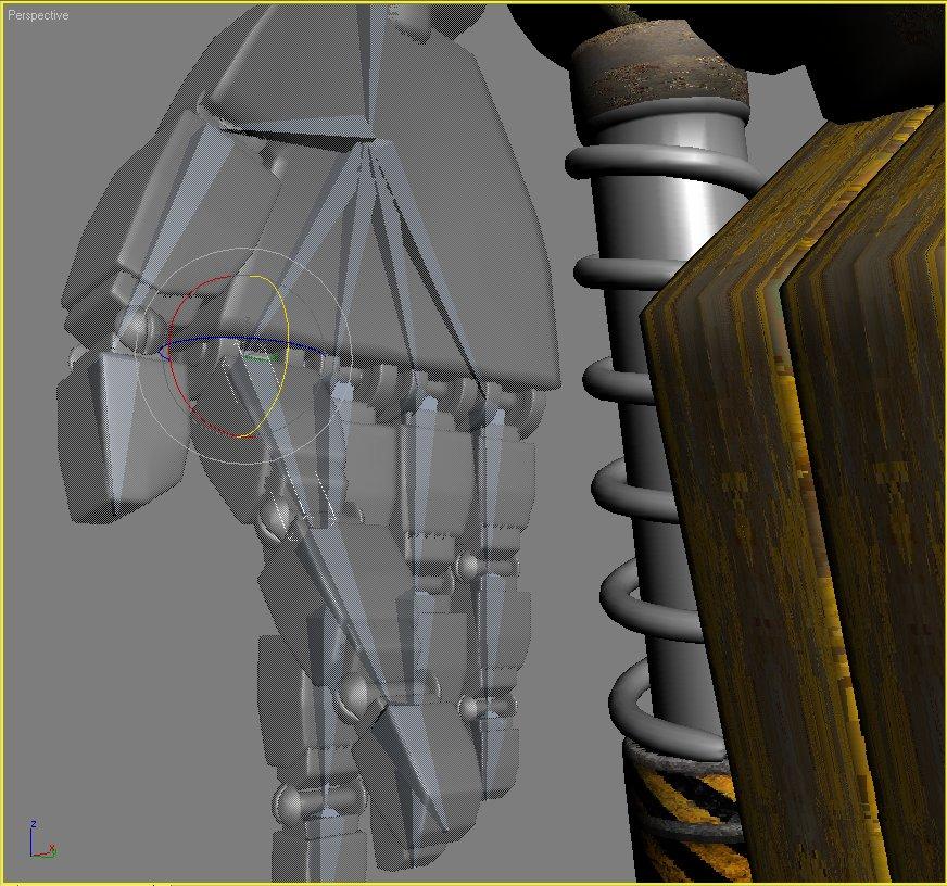 sand marauder robot character rigged 3d model 3ds max fbx obj 135090