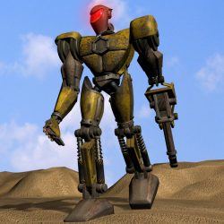 Sand Marauder Robot Character RIGGED ( 464.29KB jpg by supercigale )
