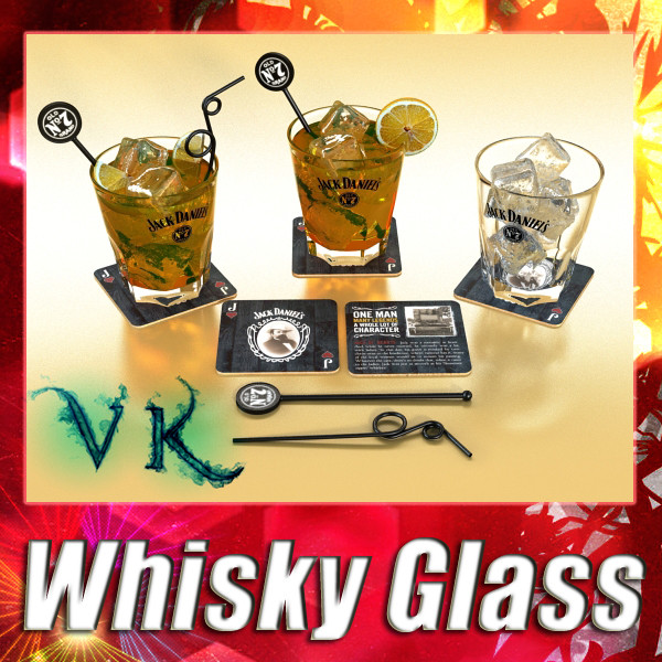 whiskey glass 3d model 3ds max fbx obj 135898