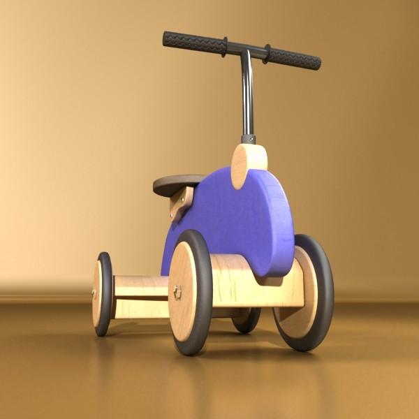 koka izjādes rotaļlietu velosipēds 3d modelis max fbx obj 131716