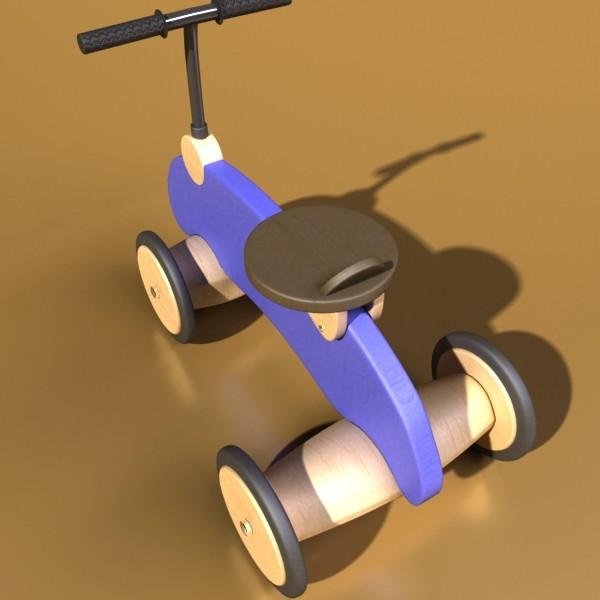 koka izjādes rotaļlietu velosipēds 3d modelis max fbx obj 131718