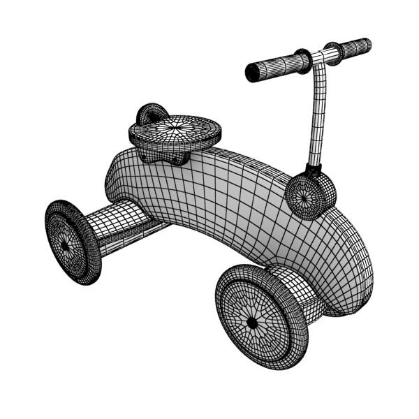 koka izjādes rotaļlietu velosipēds 3d modelis max fbx obj 131722