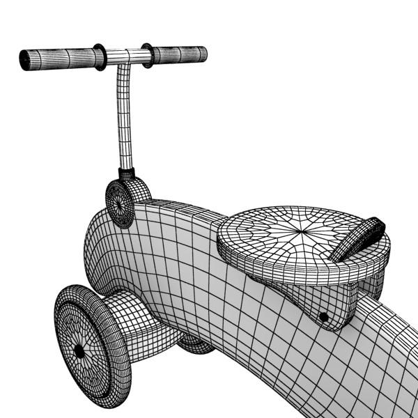 koka izjādes rotaļlietu velosipēds 3d modelis max fbx obj 131723