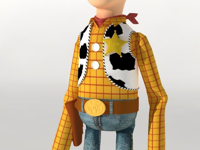 woody rigged 3d model 120089