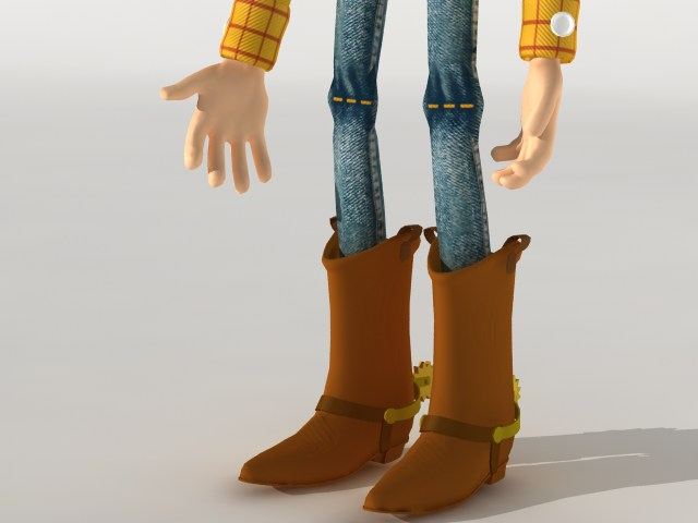 woody rigged 3d model 120090