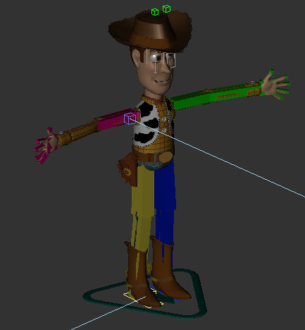 woody rigged 3d model 120091