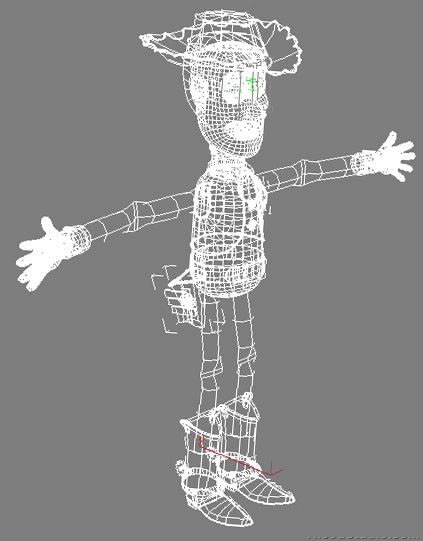 woody rigged 3d model 120092