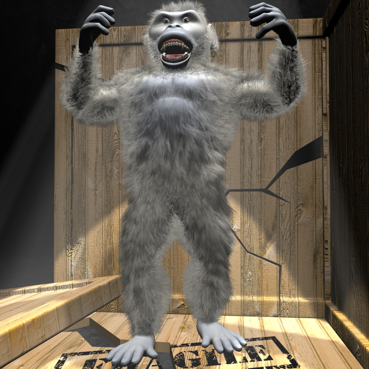 yeti character rigged 3d model 3ds max fbx  obj 163691