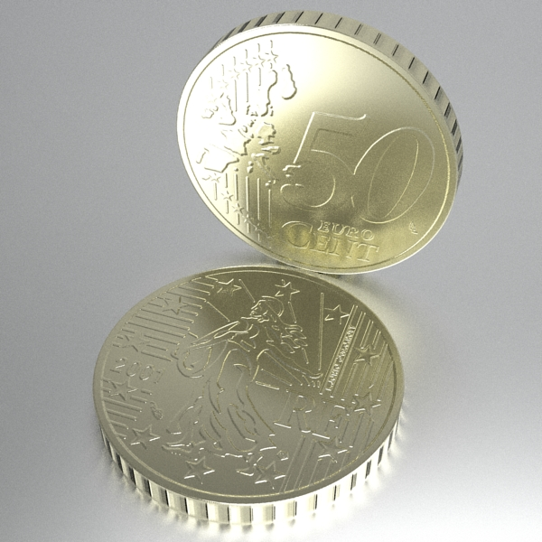 french euro coins 3d model 3ds fbx skp obj 120565