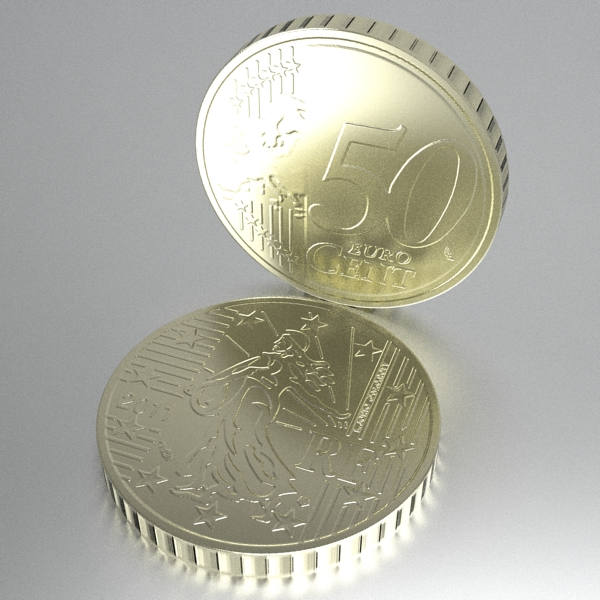 french euro coins 3d model 3ds fbx skp obj 120566