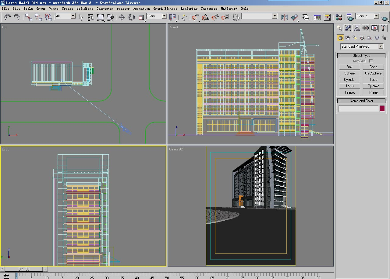 architecture 014 3d model max psd 141754