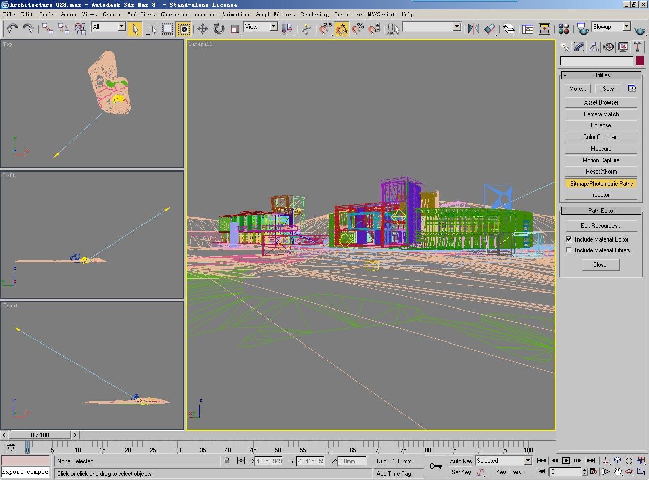 architecture 028 3d model 3ds psd 141674