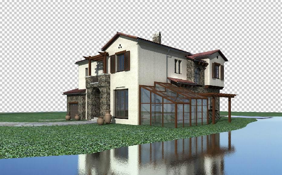 architecture 037 3d model max psd 141698