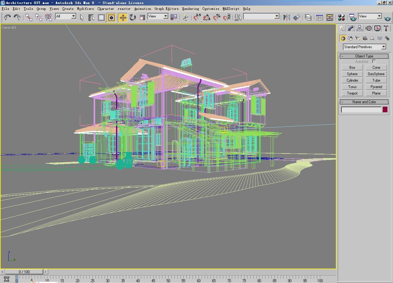 architecture 037 3d model max psd 141699
