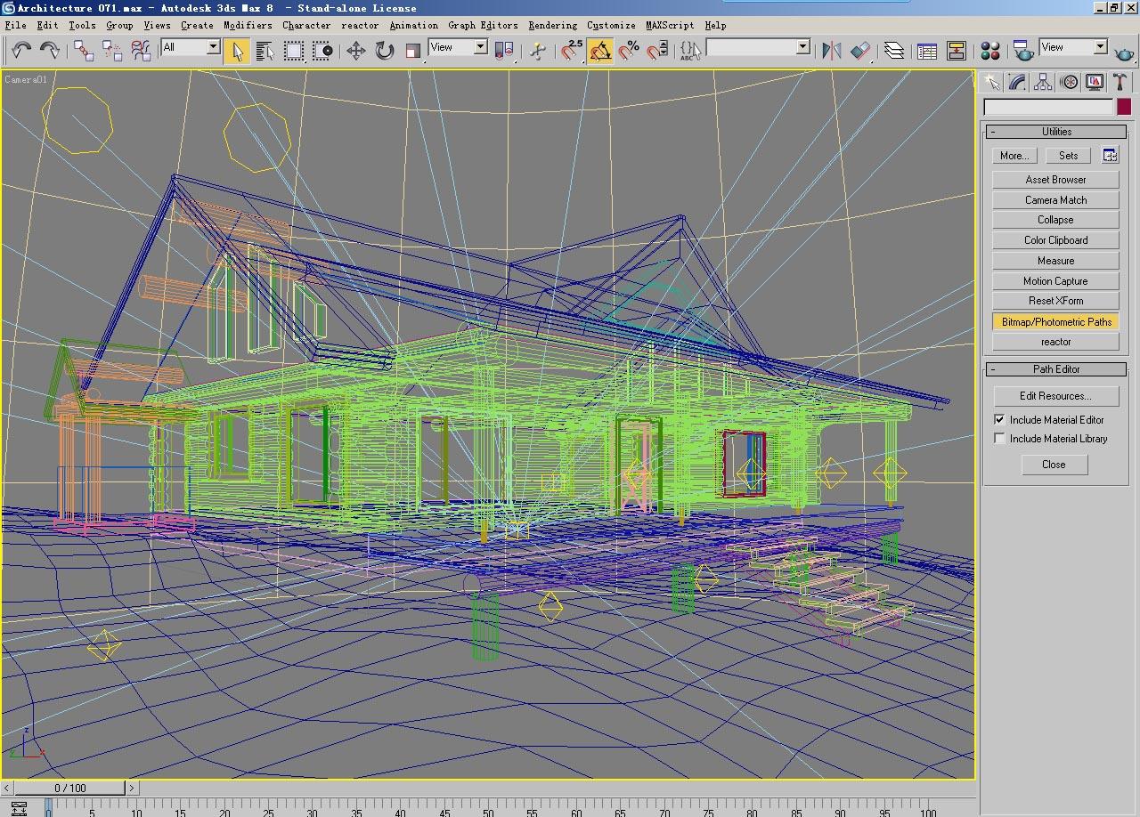 architecture 071 3d model max psd 142236