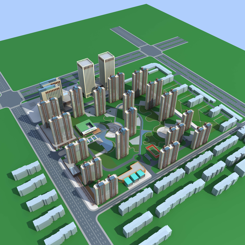 architecture 655 3d model max 146660