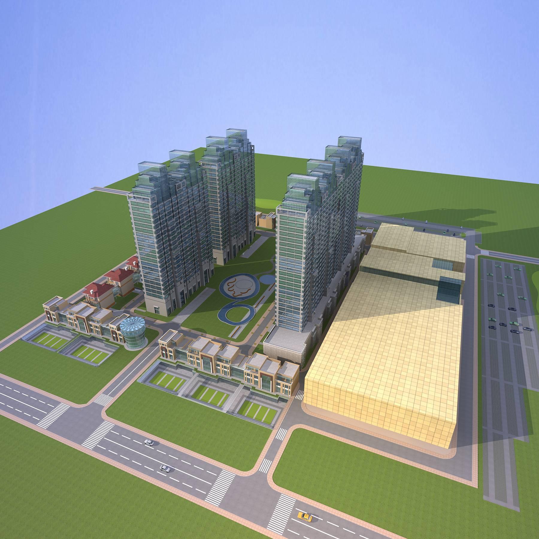 architecture 665 3d model 3ds max 146689