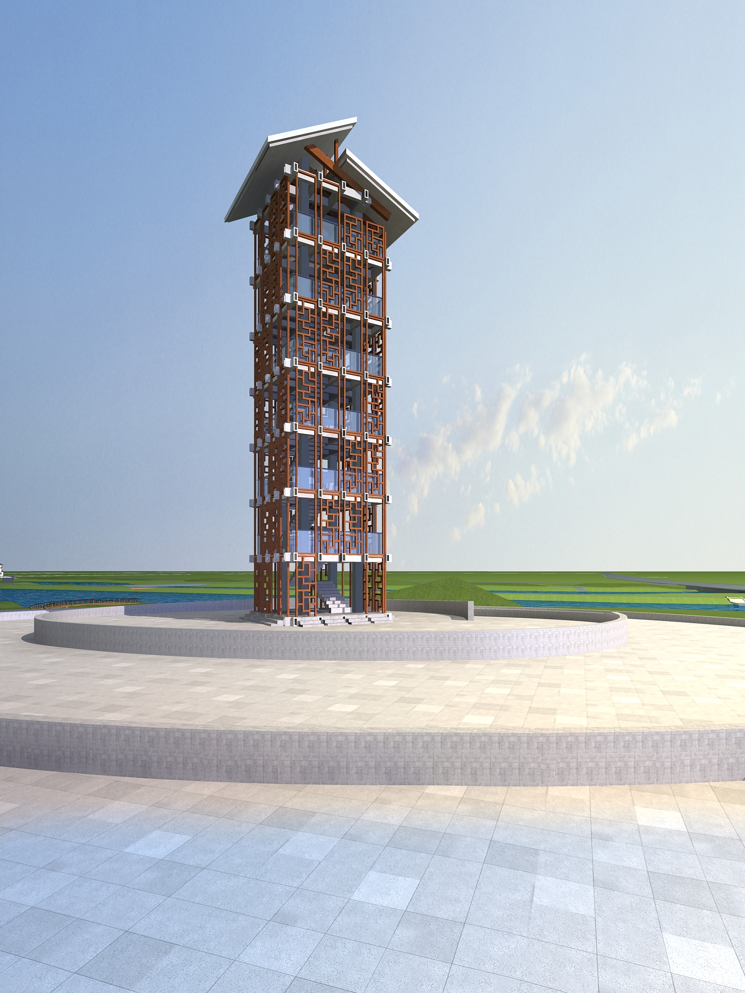architecture 696 3d model 3ds max 146768