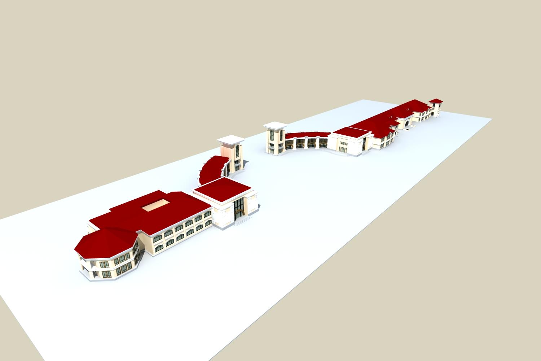 architecture 796 3d model max 147258