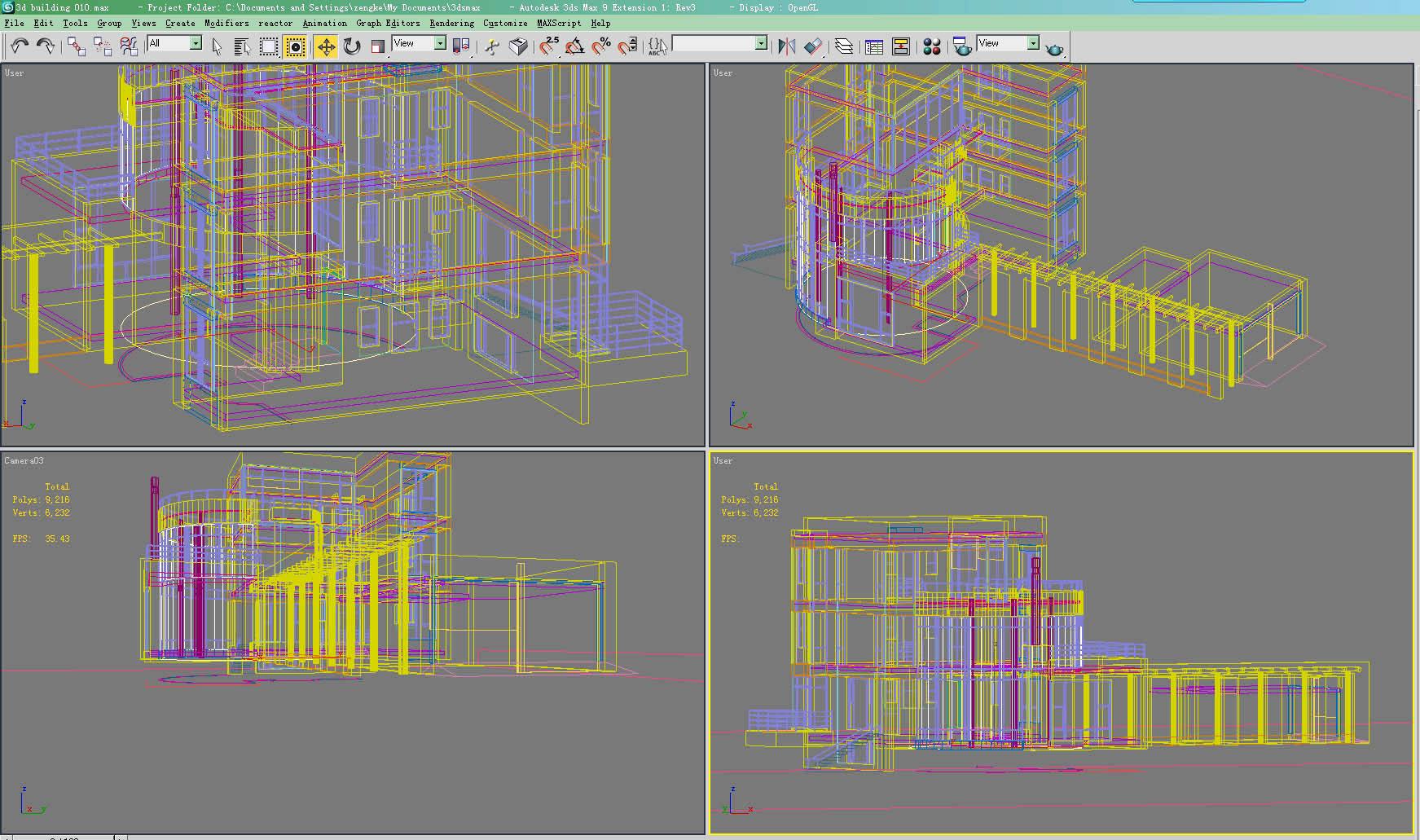 building 010 3d model max psd 122899