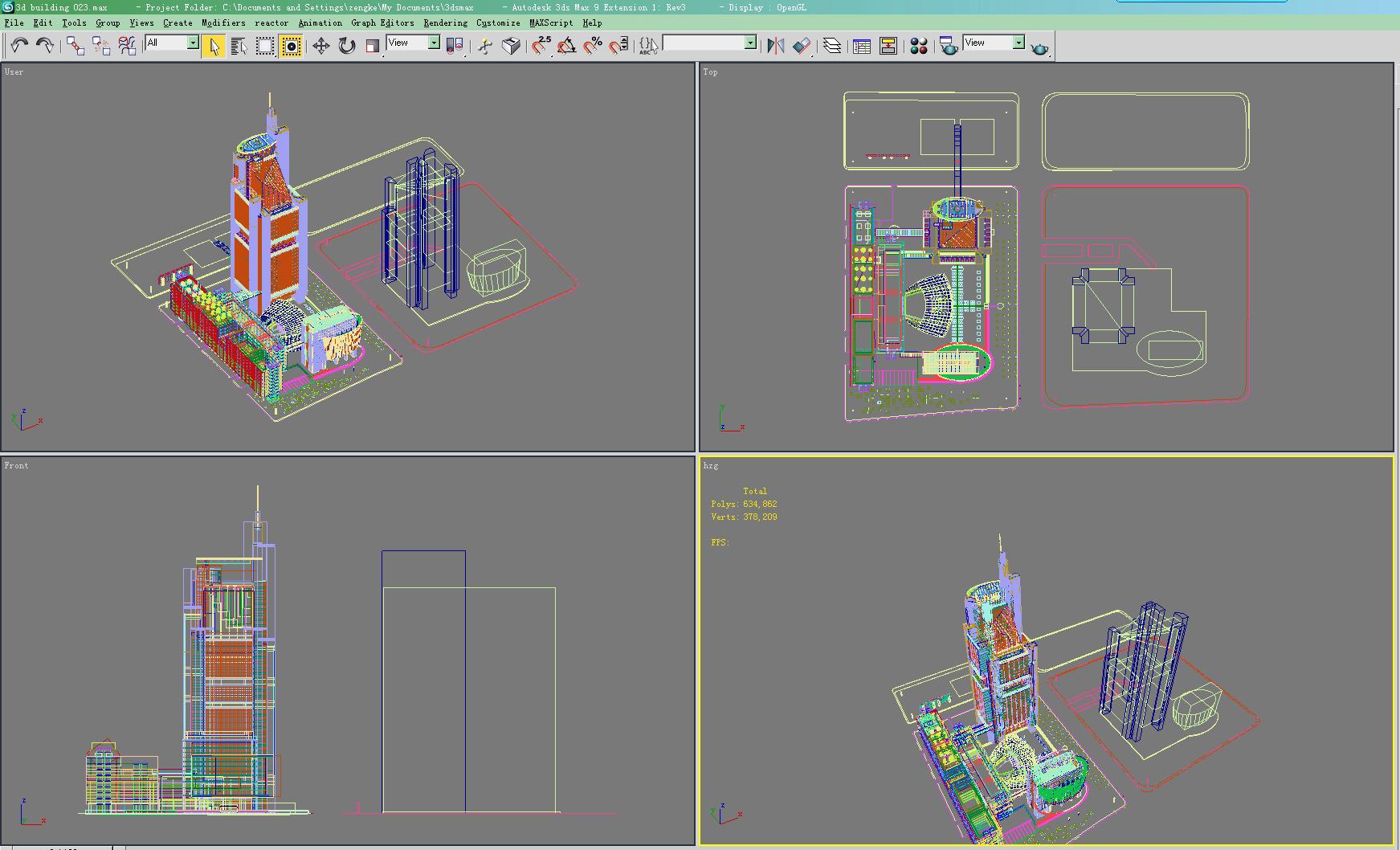 building 023 3d model max 123168
