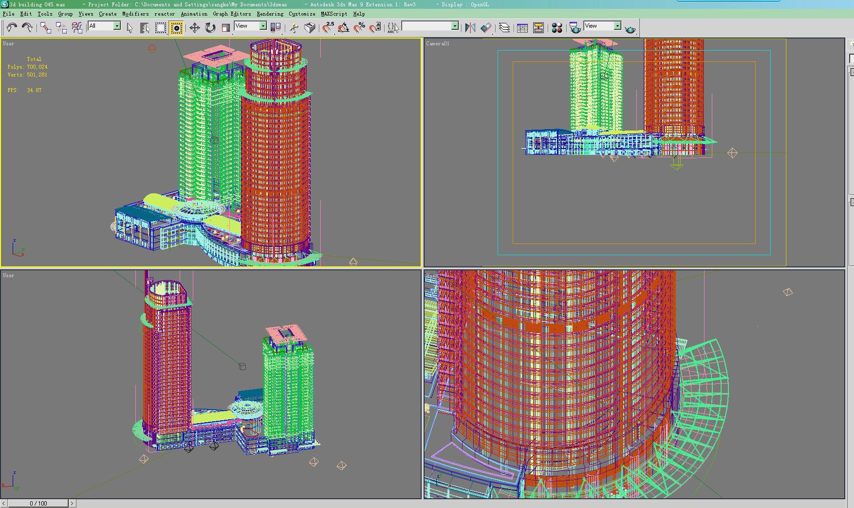 building 045 3d model max 125976