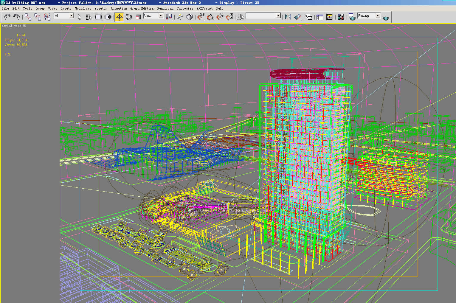 building 129 3d model max 127802