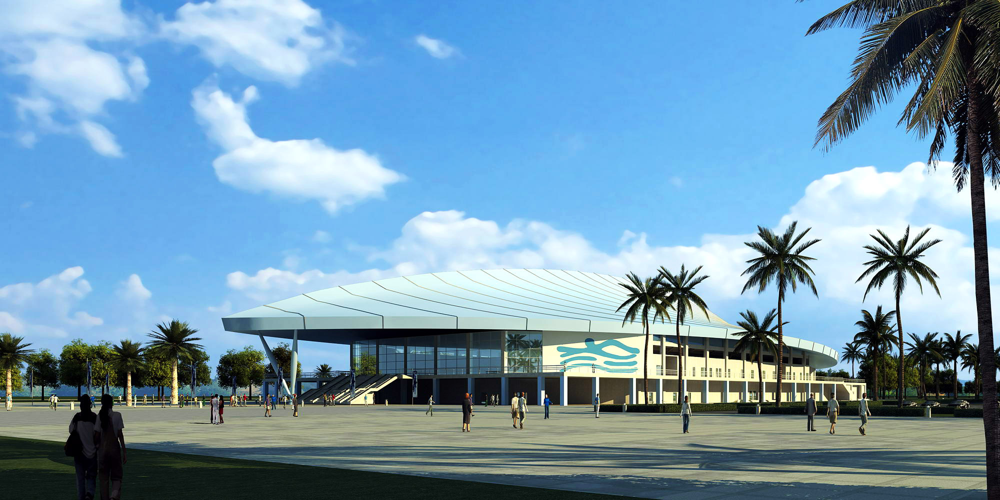 building 266 natatorium 3d model max 127453