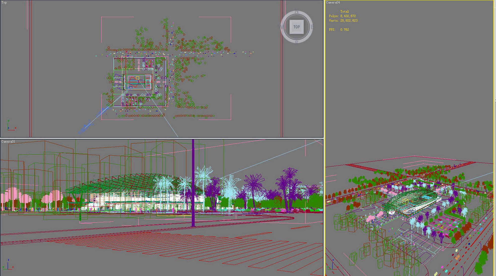 building 266 natatorium 3d model max 127454
