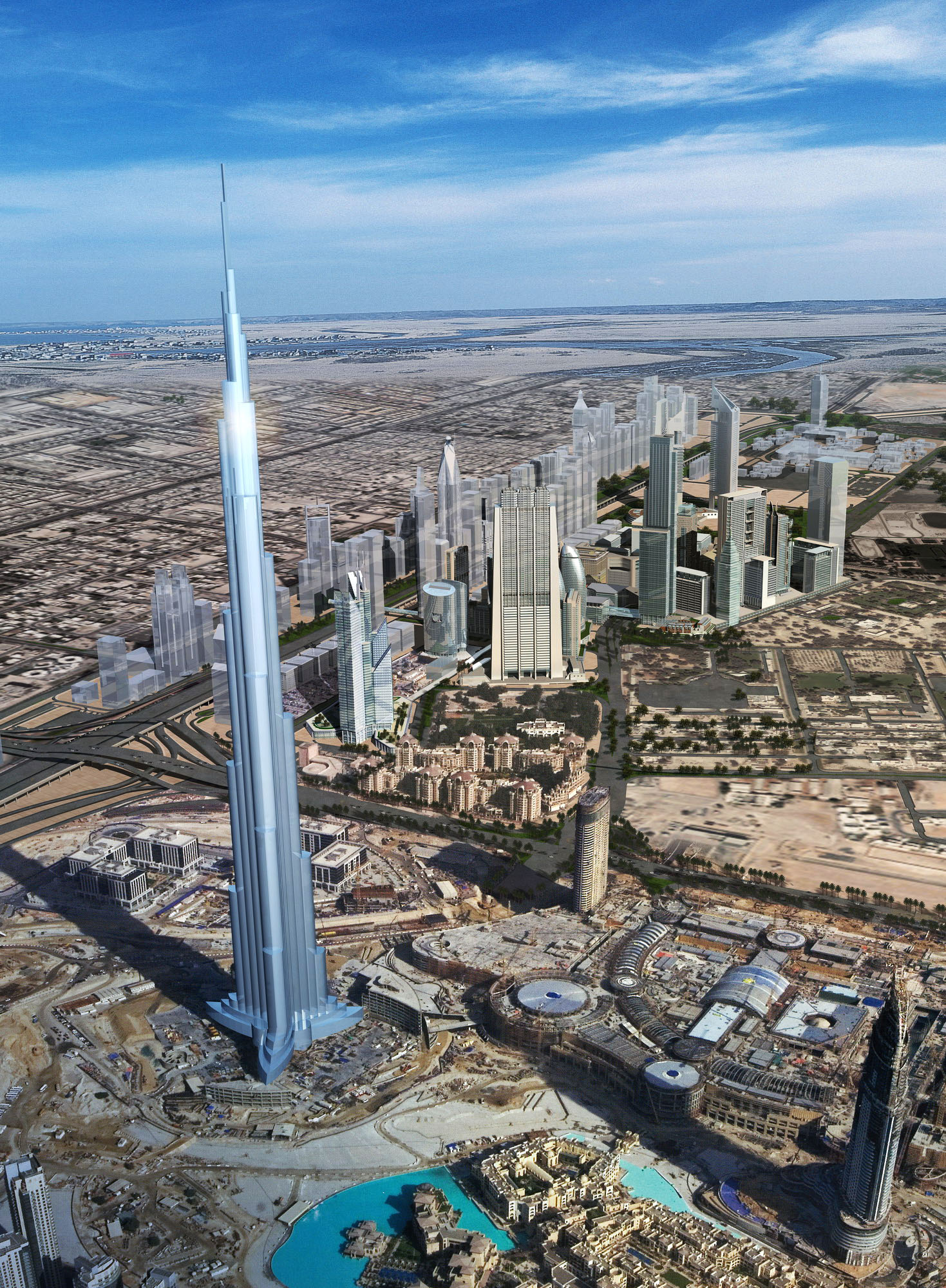 building 300 — burj khalifa tower 3d model max 126409