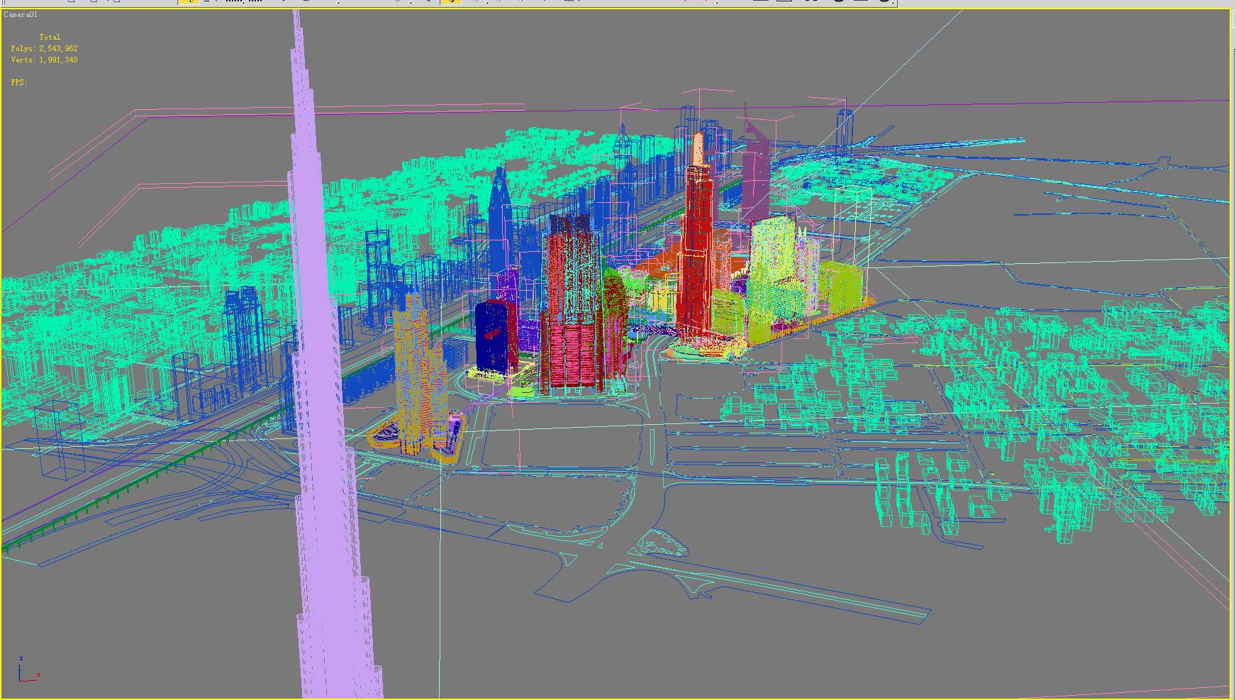 building 300 — burj khalifa tower 3d model max 126410