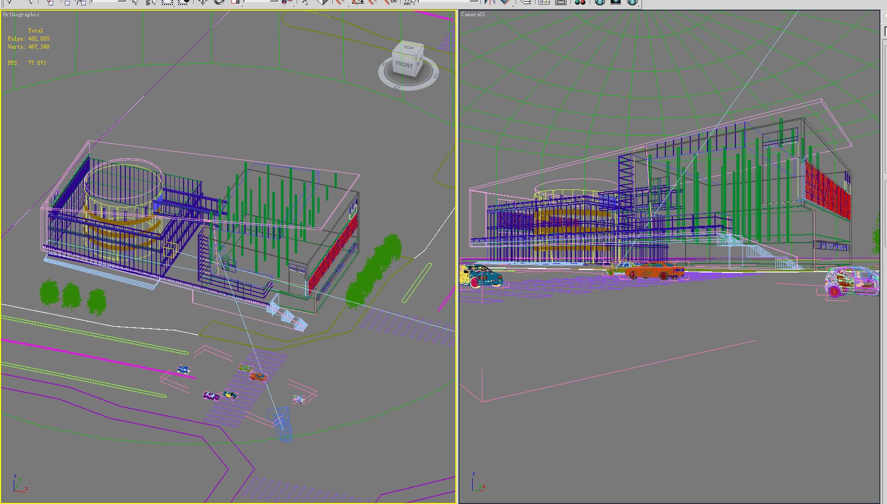 building 320 3d model max 127307